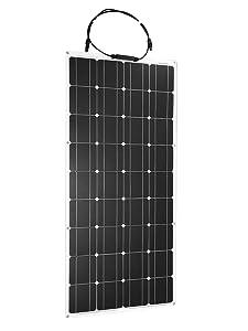 100W  DOKIO セミフレキシブル ソーラーパネル