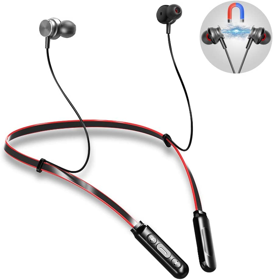 Auriculares Bluetooth 4.2 Inalámbricos Magnéticos Etmury Value Cascos Deportivos con Micrófono IPX5 Manos Libres Hi-Fi Sonido hasta 10 h