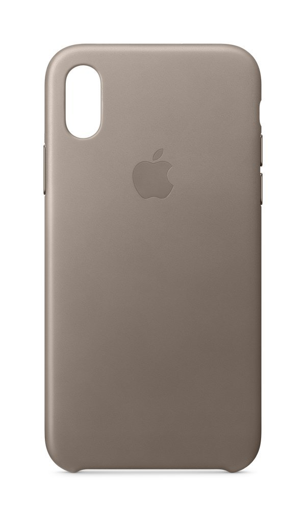 Apple iPhone X Leather Case - Taupe