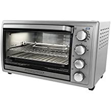 BLACK+DECKER Rotisserie Convection Countertop Toaster Oven, Silver,  TO4314SSD
