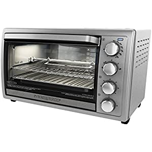 Black+Decker TO4314SSD WCR-076 Rotisserie Toaster Oven, 9X13, Stainless Steel