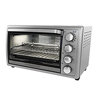 """""""BLACK+DECKER Rotisserie Toaster Oven, 6 Slice, 5 Functions, Silver, TO4314SSD (B00CS3OBNO) 
