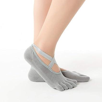 Onebycitess Calcetines de Yoga Calcetines Antideslizantes ...