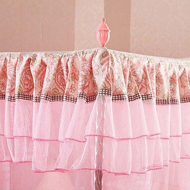 ZYT Koreanischen Palast Boden stehenden dreitürigen dreitürigen dreitürigen Edelstahl fett pastorale Prinzessin Bett Netze Verschlüsselung . full B072Q6GRX5 Bettzubehr 28dec7