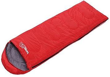 Portable y Impermeable para Camping Al Aire Libre Rojo Saco de Dormir con Cremallera
