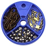 Eagle Claw Hook Swivel and Sinker Assortment, 75 Piece