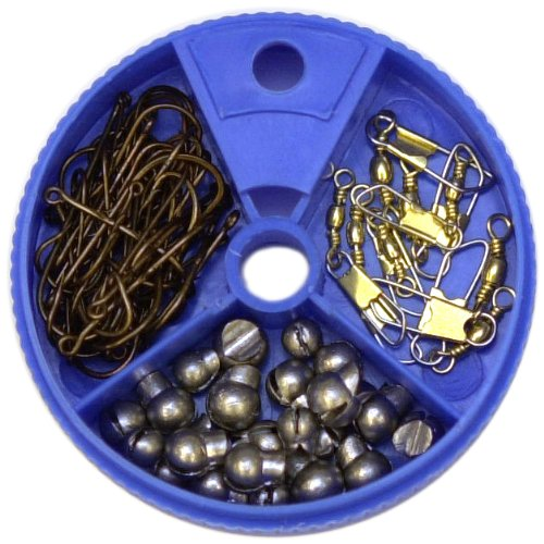 Eagle Claw Hook Swivel and Sinker Assortment, 75 Piece, Outdoor Stuffs
