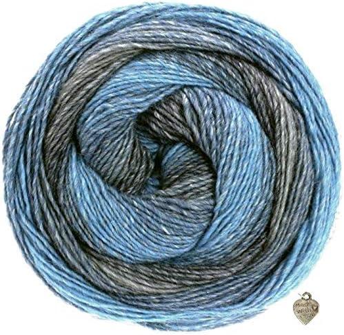 Gomitolo Versione Wolle Kreativ 402 blau//jeans//Grau 200g Lana Grossa Fb