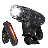 Bike Light - USB Rechargeable Bicycle Light Set - Super Bright LED...