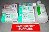 SOS (Emergency Supplies Kit) Hand Sanitizer, Eye Wash Solution, Cold Packs, Anti-Septic Towelettes