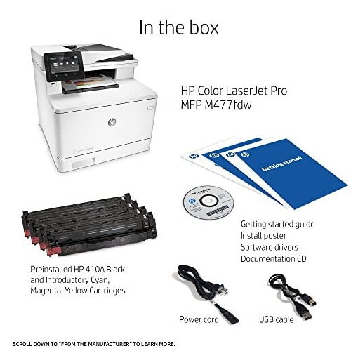 HP Laserjet Pro M477fdw Wireless All-in-One Color Printer