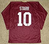 Autographed Bart Starr Jersey - #10 Throwback - Tristar Productions Certified - Autographed College Jerseys