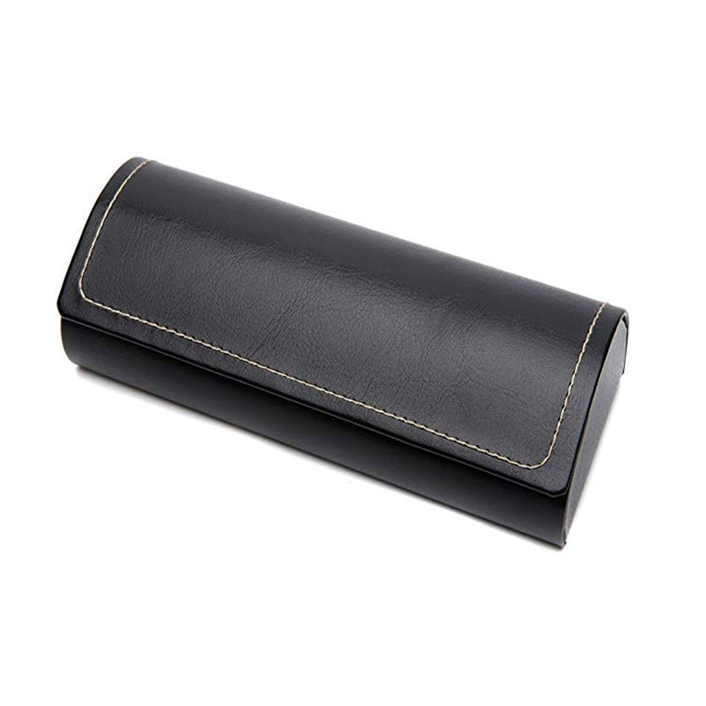 Hard case glasses case leather solid color pattern glasses case