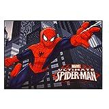 Gertmenian 31003 Marvel Ultimate Spiderman Rug HD Digital Kids Bedding Room Decor Area Throw Rugs, 40