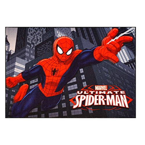 Gertmenian 31003 Marvel Ultimate Spiderman Rug HD Digital Kids Bedding Room Decor Area Throw Rugs, 40