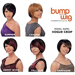 Sensationnel Bump Human Hair Wig - Vogue Crop-1B