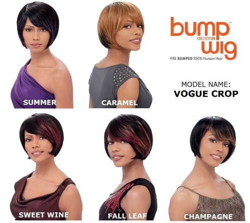 Sensationnel Bump Human Hair Wig - Vogue Crop-Sweet Wine