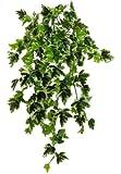 Edera Ivy Variegata - Cespuglio Artificiale Cadente - 180 Foglie - Lungo 80 cm circa