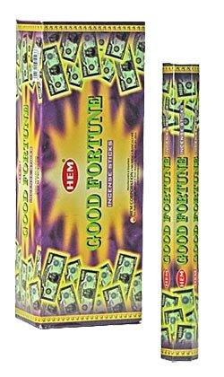 Good Fortune - Box of Six 20 Gram Tubes - HEM Incense