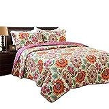 Brandream Bohemian Bedding Boho Style Comforter Sets Lightweight 100% Cotton Quilts Full Queen Size Bedspreads
