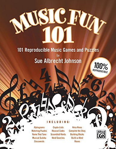Music Fun 101: 101 Reproducible Music Games and Puzzles (Teacher's Handbook), Comb Bound Book