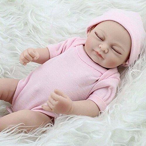 JOJASHOP 11 Handmade Real Looking Newborn Baby Vinyl Silicone Realistic Reborn Doll Girl
