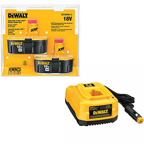 DeWalt DC9096-2 18V XRP Battery Pack & DeWalt DC9319 72V-18V Vehicle Charger