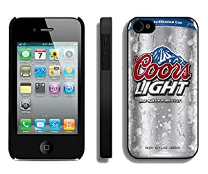 Case For iPhone 4 4S,Coors Light Beer Black iPhone 4 4S Case Cover