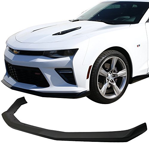 Acs Front Lip (Pre-painted Front Bumper Lip Fits 2016-2018 Chevrolet Camaro | OE style Painted Matte Black ABS Front Lip Finisher Under Chin Spoiler Add On other color available by IKON MOTORSPORTS | 2017)