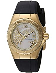Technomarine Womens Cruise Quartz Stainless Steel and Silicone Casual Watch, Color:Black (Model: TM-115257)