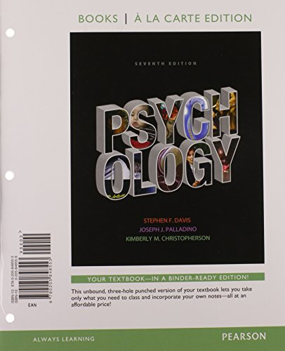 Psychology, Books a la Carte Plus NEW MyLab Psychology with eText -- Access Card Package (7th Edition)