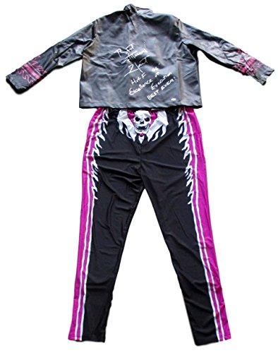Bret Hitman Costume The (Bret The Hitman Hart Signed Jacket w/ Full Costume 3 Inscriptions JSA)