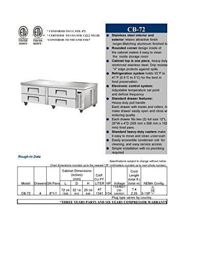 Refrigerated Base Chef Stand (Chef Base Chefs Refrigerator Refrigerated Grill Stand Draw RESTAURANT EQUIPMENT Table)