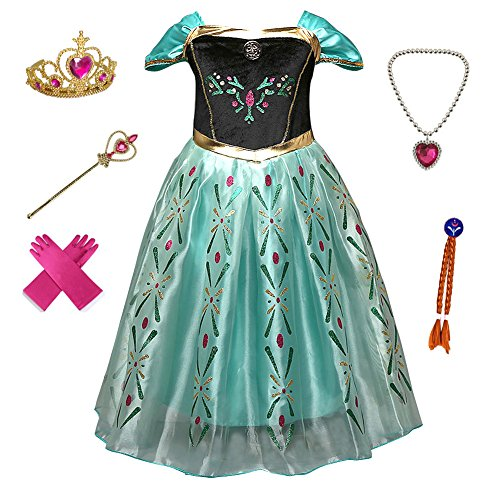 Anbelarui Girls New Princess Party Cosplay Costume Long