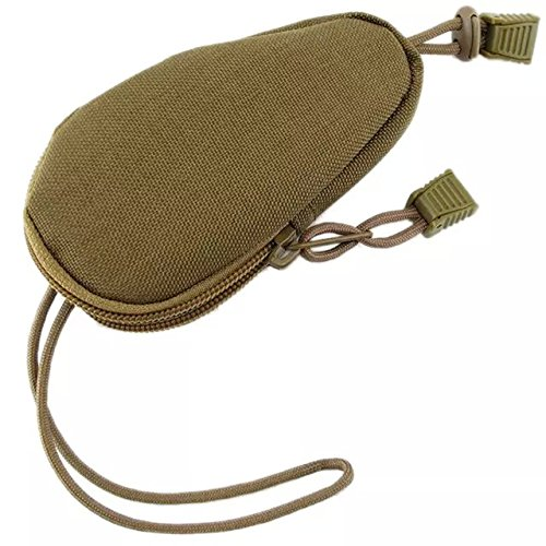 Ezyoutdoor Pouch Genuine Accessory items bag Outdoor Essential pocket for Shopping Backpacking Picnic Camping Hiking Backpacking Travel 12x7cm (kahki)