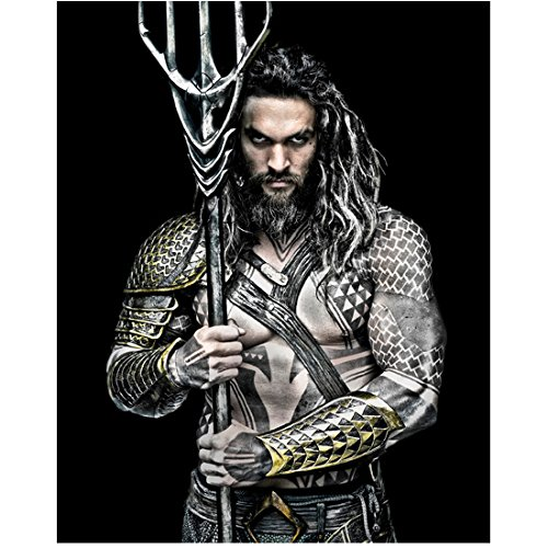 Jason Momoa as Arthur Curry aka Aquaman Looking On Justice League 8 x 10 Inch Photo