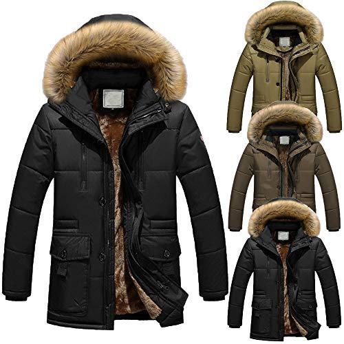 Warm Thick Fashion Men Cotton Fleece Coat Man Jacket Black Solid Padded Zipped Tomatoa Jacket Hooded Winter Coat qn4SFY