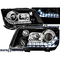 TOP SET HEADLIGHTS LAMPS LPVWE9 VW BORA 09.1998-05.2005 DAYLIGHT BLACK