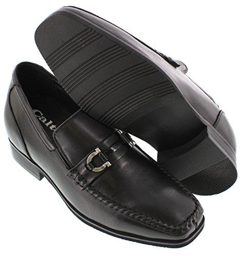 calto-g58233-7,6cm Grande Taille-Hauteur Augmenter Chaussures ascenseur-Noir Robe Chaussures