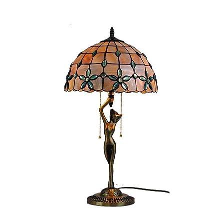 Tiffany Style - Lámpara de mesa de cobre, 12 pulgadas, color ...