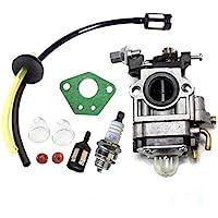 Queta carburateur voor bosmaaier 52 cc 49 cc 43 cc, carbu-set met afdichting, slang, bougie en benzinemotor