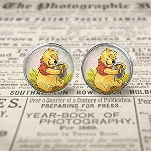 Winnie The Pooh Stud Earrings