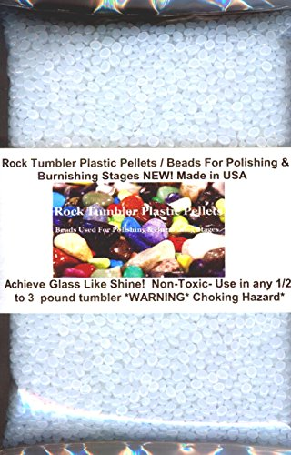 Rock Tumbler Plastic Pellets / Beads Used For Polishing & Burnishing Stages NEW! Tumbling Glass Rock Tumbler
