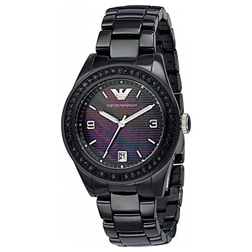 Emporio Armani Men's AR1423 Black Crystal Ceramic Watch