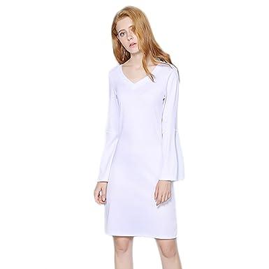 S-4XL Elegant Casual Solid Mini Dresses NEW Autumn Fashion Women A-Line Dress