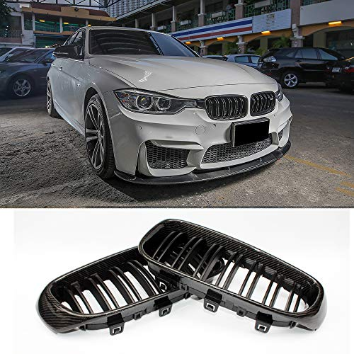 (Fandixin F34 Grille, Carbon Fiber Front Kidney Grill Front Bumper Hood Grill for BMW 3 Series Gran Turismo F34)