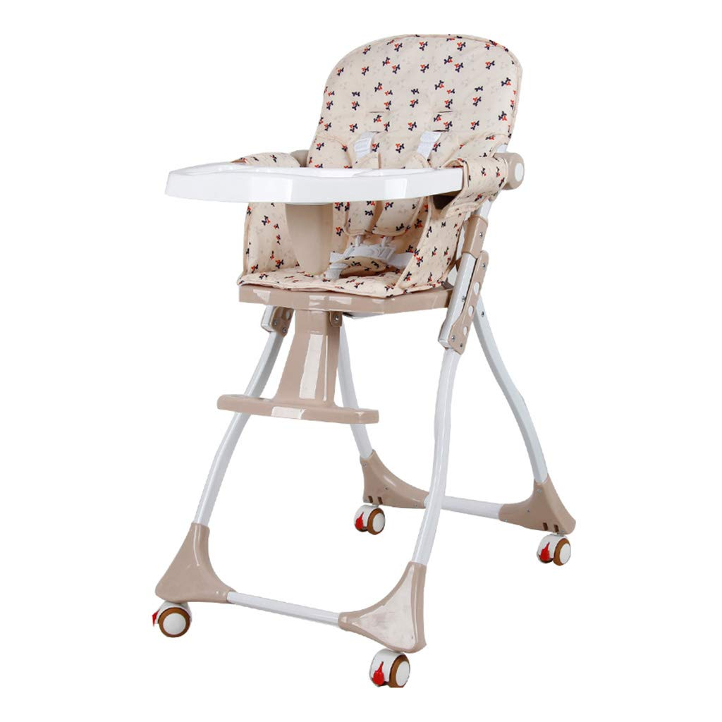 Baby Dining Chair Foldable Multi-Function Portable Children Learn to Sit On The Table Chair Easy to Clean Ultra-Stable Structure 0-4 Years Old