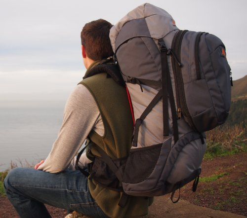 Guerrilla Packs Roundhouse Internal Frame Backpack, Middle Grey/Dark Grey by Guerrilla Packs (Image #8)