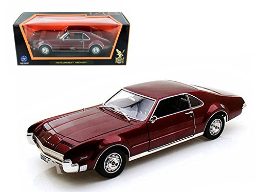 92718bg Yatming - Oldsmobile Toronado Hard Top (1966, 1:18, Burgundy) 92718 Diecast Car Model Auto Vehicle Die Cast Metal Iron Toy Transport