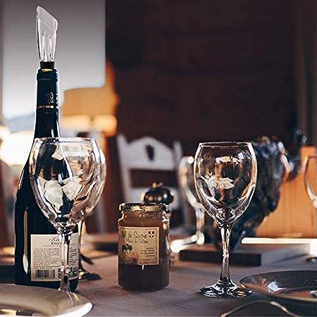 Queta Bomba de vacío para conservar el vino, 1 bomba negra + 4 tapas para la bomba de vacío + 1 boquilla antigoteo + 1 sacacorchos